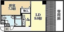 ル−ミネス芦谷三番館[1階]の間取り