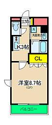 コンフォール神奈川[505号室]の間取り