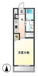 シュロス上飯田[1階]の間取り