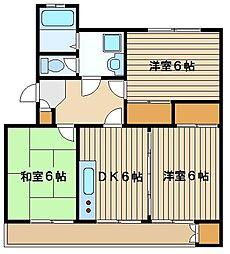 名古屋コーポ[2階]の間取り