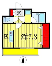 シャトルOMI2[2階]の間取り