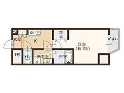 コンフォリア北堀江[3階]の間取り