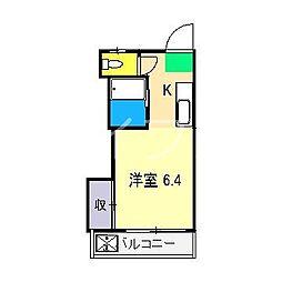 春野ハイツ[1階]の間取り