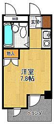 ジョイフル北武庫之荘[2階]の間取り