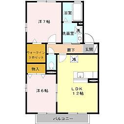 リビングタウン本郷 2棟[2階]の間取り