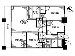 JR総武本線 馬喰町駅 徒歩1分の賃貸マンション 15階4LDKの間取り