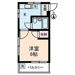 タチバナコーポ2[3階]の間取り