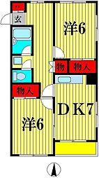 メゾン胡録台[2階]の間取り
