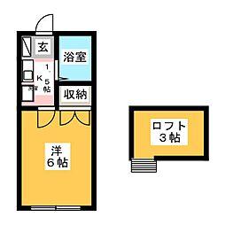 アリス伊勢崎第6号館[1階]の間取り