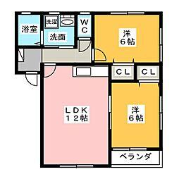 ミノーレ1[2階]の間取り