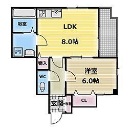 エスポワール永和[4階]の間取り