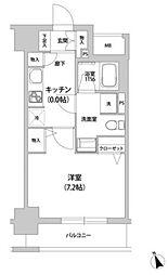 JR山手線 田町駅 徒歩8分の賃貸マンション 3階1Kの間取り