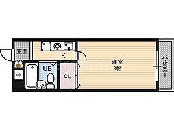 ベンベヌート大西[2階]の間取り