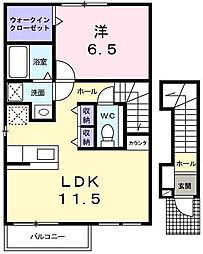 ミニョンII番館[2階]の間取り