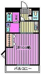 埼玉県川口市鳩ヶ谷本町3丁目の賃貸マンションの間取り