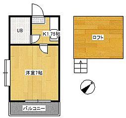 アパートメントタケダ[2階]の間取り