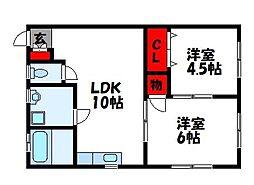 センターフジI[2階]の間取り