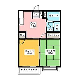オーキッド パートI[2階]の間取り