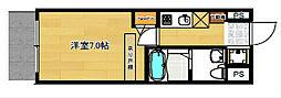 セレニテ本町ROJI02[3階]の間取り
