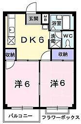 エルデムコーヨーA[1階]の間取り