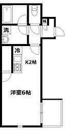 Adagio亀有[202号室]の間取り