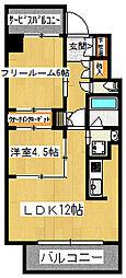 本町橋倶楽部[402号室]の間取り
