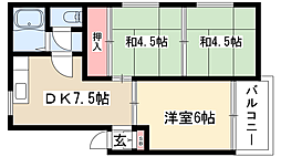 中根マンション[3階]の間取り