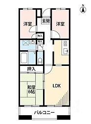 サニーコート江坂[2階]の間取り