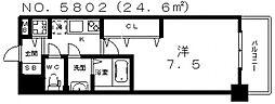 大阪府大阪市住吉区清水丘2丁目の賃貸マンションの間取り