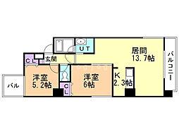 ibiza maruyama 7階2LDKの間取り