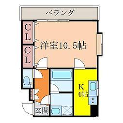 日興ビル持田[206号室]の間取り