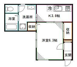 JR中央本線 中野駅 徒歩4分の賃貸アパート 1階1Kの間取り