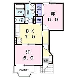 シルクガーデン[1階]の間取り