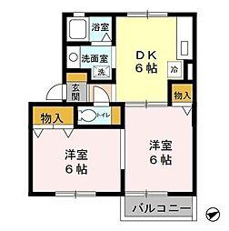 アベニューコート[1階]の間取り