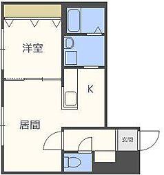 クラリス北16条A棟[2階]の間取り