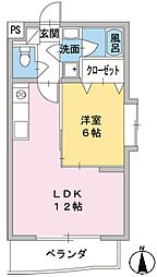 エール19[2階]の間取り