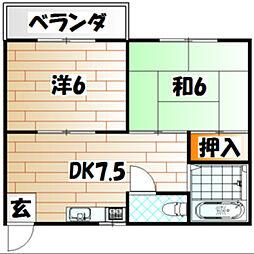 コスモハイツ・マミ[2階]の間取り