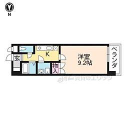 京阪本線 龍谷大前深草駅 徒歩6分の賃貸マンション 4階1Kの間取り