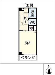 パークMAS[3階]の間取り