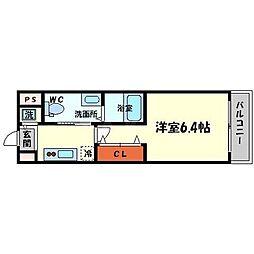 ファミーユ千里山西[4階]の間取り