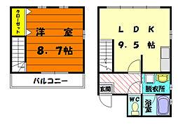 キュービック三苫[1階]の間取り