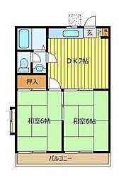 イコ−ハイツ[1階]の間取り