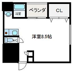 フェリセ富田[208号室]の間取り