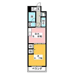 アルファレガロ西古松[9階]の間取り