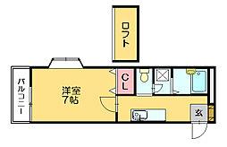 ルート門松駅IIB[2階]の間取り