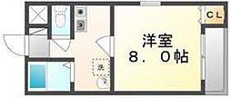 JR高徳線 栗林駅 徒歩7分の賃貸アパート 1階1Kの間取り