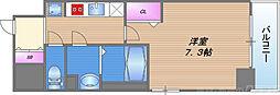 プリムール新深江 10階1Kの間取り