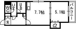 Vertical 18(バーティカル18)[00601号室]の間取り