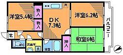 エスポワール (武蔵野不:深大寺)[1階]の間取り