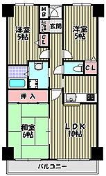 ビューハイツ[3階]の間取り